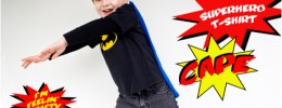 Superhero t-shirt cape tutorial