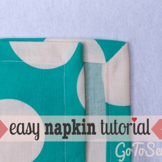 Easy Cloth Napkins Tutorial: How to sew mitered corners