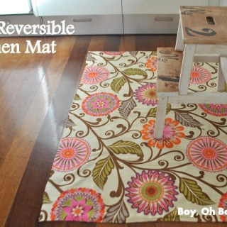 Featured: Reversible Kitchen Mat Tutorial