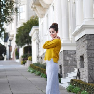Featured: Long, Tight Knit Maxi Dress Tutorial