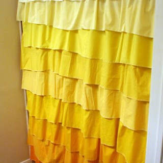 shower curtain tutorial