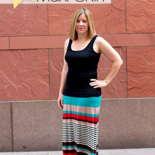 Featured: The Best, Easy Knit Maxi Skirt Tutorial