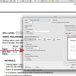 Printing tips for printing PDF patterns accurately