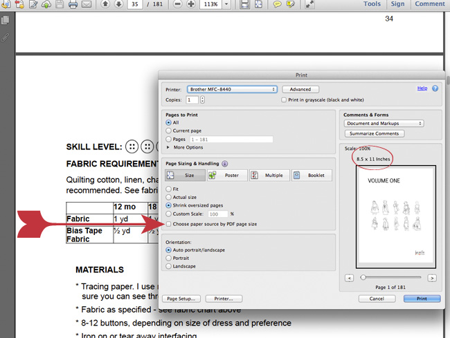 Printing Tips For Printing Pdf Patterns Accurately Sewtorial
