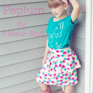 Featured: Pretty in Peplum Skirt Tutorial