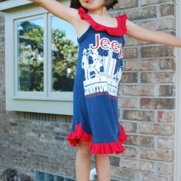 up cycled tee nightgown