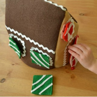 Featured: Felt Gingerbread House Tutorial