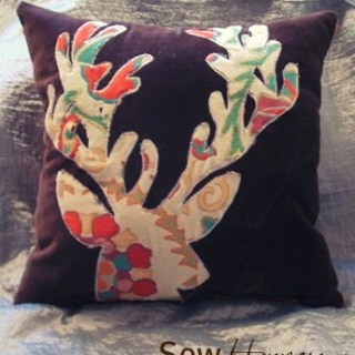 Featured: DIY Anthropologie Deer Pillow