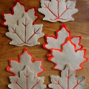 fall leaves coasters