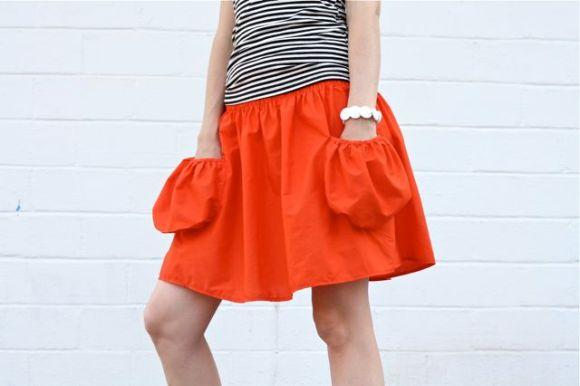 deep pocket skirt