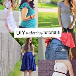 Lots of great DIY maternity tutorials!