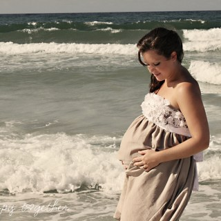 Oceanside Lace Maternity Dress
