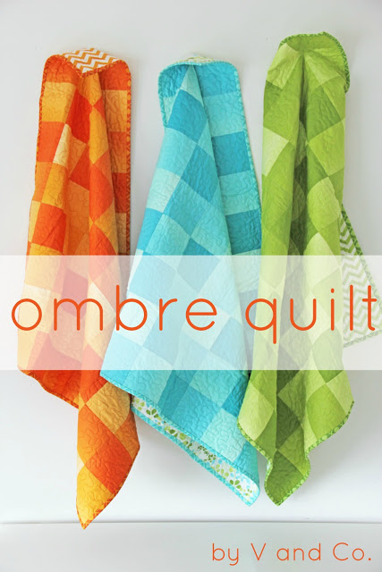 simply color ombre baby quilt header