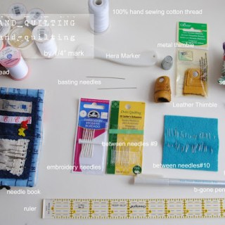 Hand Quilting Tutorial