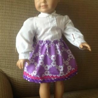 American Girl Doll Skirt Tutorial