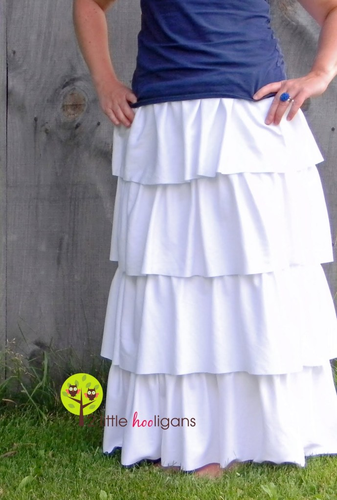 ruffled maxi skirt tutorial sewtorial