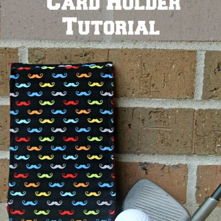 Golf Score Card Holder Tutorial