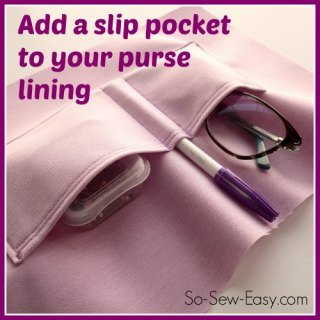 Purse Slip Pocket Tutorial