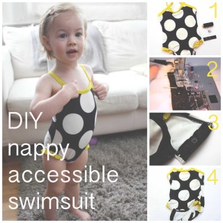 DIY Nappy Accessible Swimsuit Tutorial