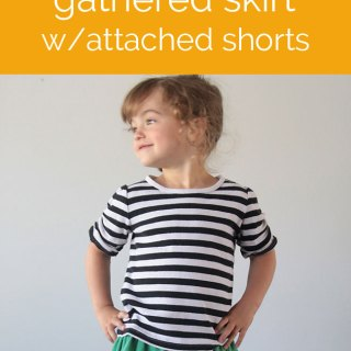 Gathered Skirt with Attached Shorts Tutorial