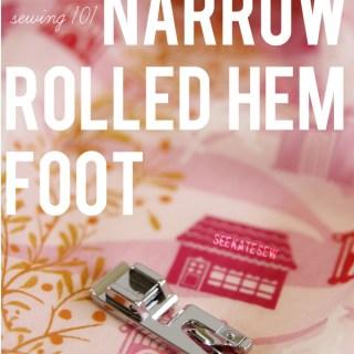 Narrow Rolled Hem Tutorial