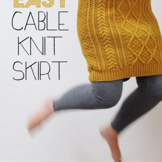 Cable Knit Skirt Tutorial