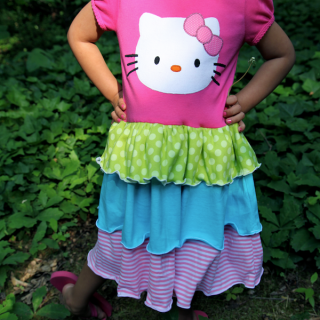 Twirly Tee Shirt Dress Tutorial