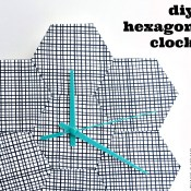 diy hexagon clock navy blog