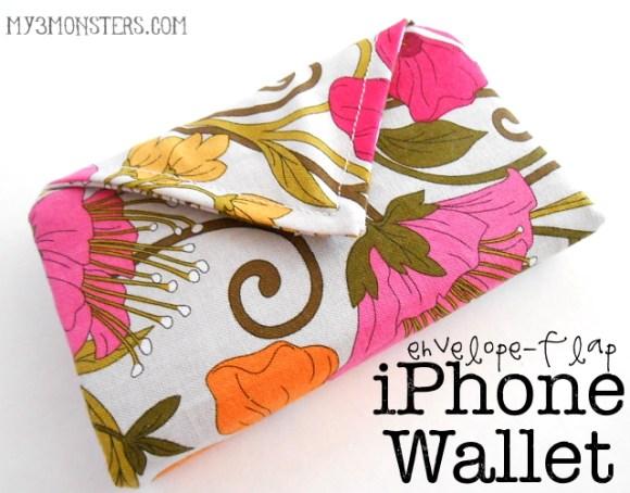 envelope flap iPhone wallet titled