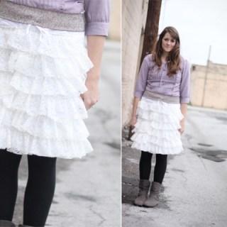 Lace Ruffles Slip/Skirt Tutorial