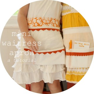 Mini Waitress Apron Tutorial