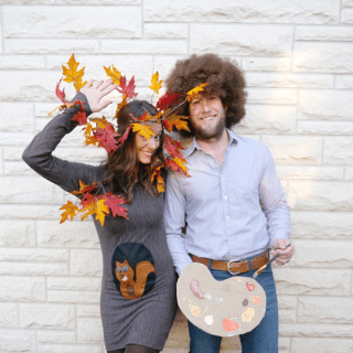 Bob Ross, Happy Tree & Squirrel Costume Tutorial