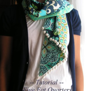 Five Fat Quarters Scarf Tutorial