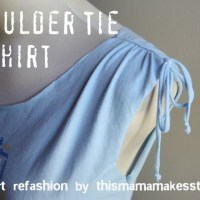Shoulder Tie Tee Shirt Tutorial