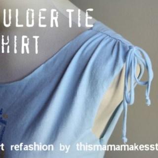 Shoulder Tie Tee Shirt Tutorial