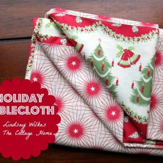 Holiday Tablecloth Tutorial