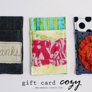 Gift Card Cozy Tutorial