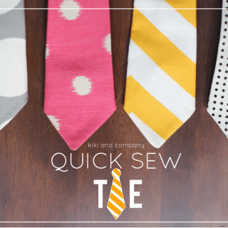 Quick Sew Tie Tutorial