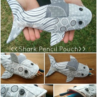 Shark Pencil Pouch Tutorial