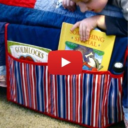 Create this DIY bed caddy to organize books and magazines by Made By Marzipan - Sewtorial