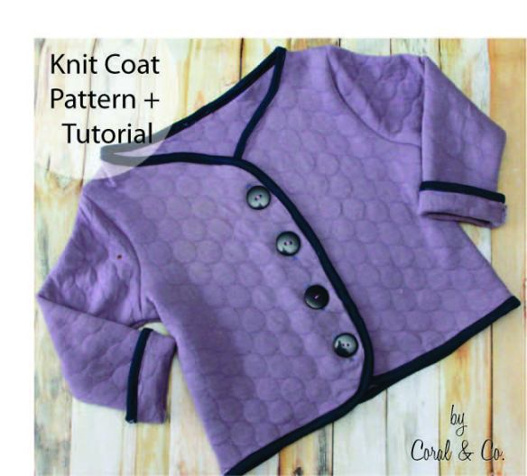 knit coat pattern by Coral and Co. - Sewtorial