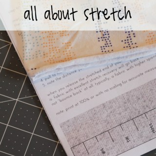 Sewing with Knits: Measure Stretch Fabric