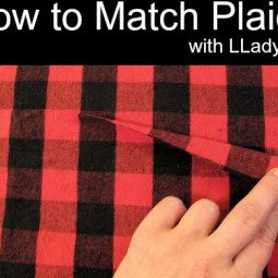matching plaids with LLadyBird - Sewtorial