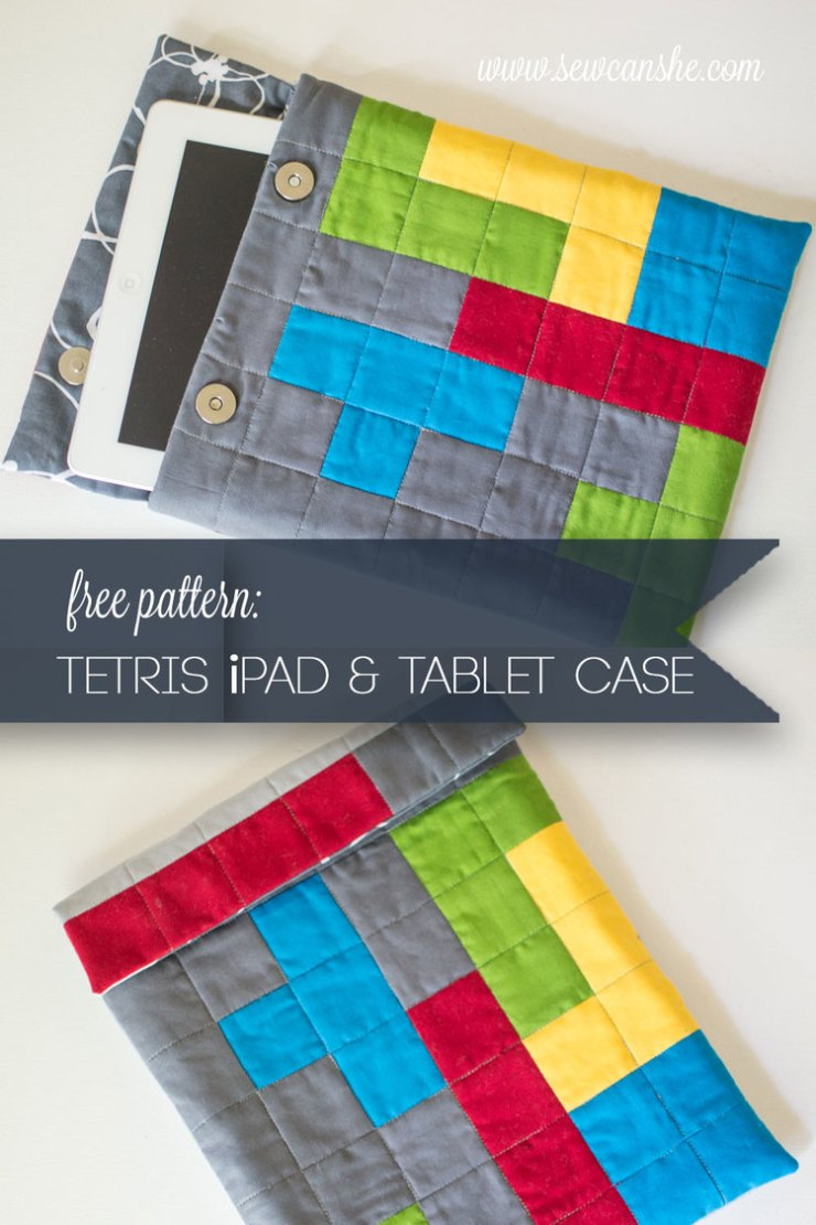 tetris themed tablet case by SewCanShe - Sewtorial