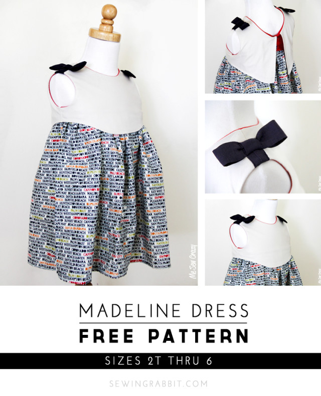 Just in time for Easter, The Sewing Rabbit shares this adorable free dress pattern called the Madeline Dress for girls sizes 2T to 6. New to sewing? This pattern will work well for the confident beginner. - Sewtorial