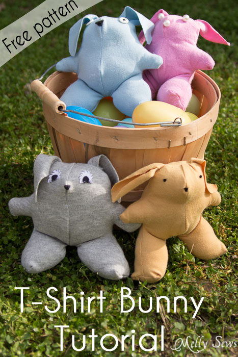 T-Shirt bunny pattern (free) by Melly Sews - Sewtorial