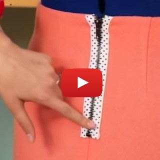 Follow this video tutorial with Gretchen Hirsch on It's So Easy to learn how to install an exposed zipper into a pencil skirt. -Sewtorial