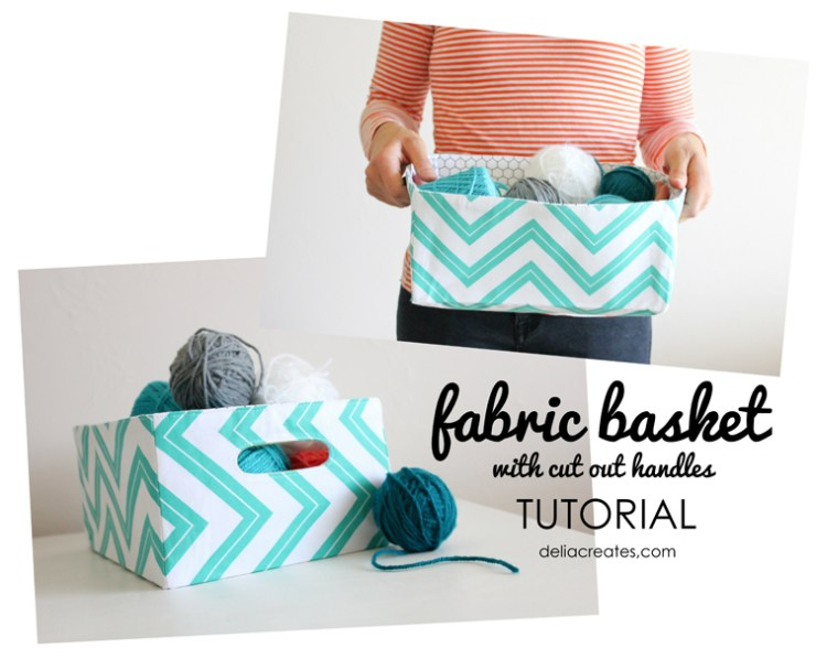 Looking for a storage solution? Try this fabric basket tutorial by Delia Creates (with U Create) in your favorite fabric to match any decor.