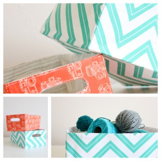 Looking for a storage solution? Try this fabric basket tutorial by Delia Creates (with U Create) in your favorite fabric to match any decor. - Sewtorial