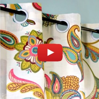 Learn to make these no sew grommet curtains with Online Fabric Store in this video tutorial. - Sewtorial